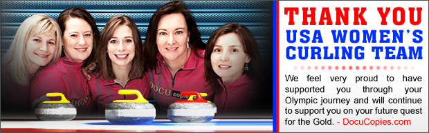 Thank You USA Women's Curling Team - We feel very proud to have supported you through your Olympic journey and will continue to support you on your future quest for the Gold.
